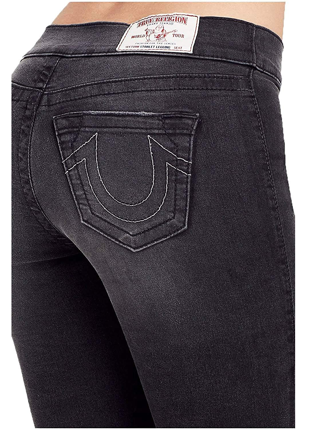 d421b163967b23 Amazon.com: True Religion Women's Starlet Legging Super Skinny Leg Pants in  Black Years Away: Clothing