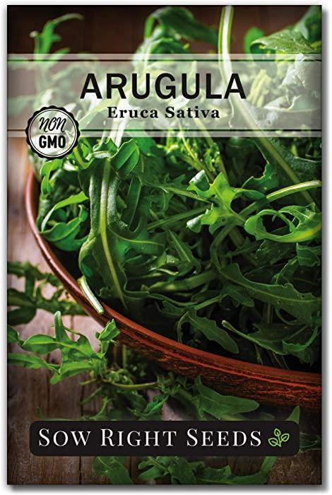 Sow Right Seeds - Arugula Seed for Planting - Non-GMO Heirloom Seeds with Instructions to Plant a Kitchen Herb Garden, Indoors or Outdoor; Great Gardening Gift