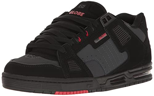 Globe Mens Sabre Skateboarding Shoe BlackPhantomRed