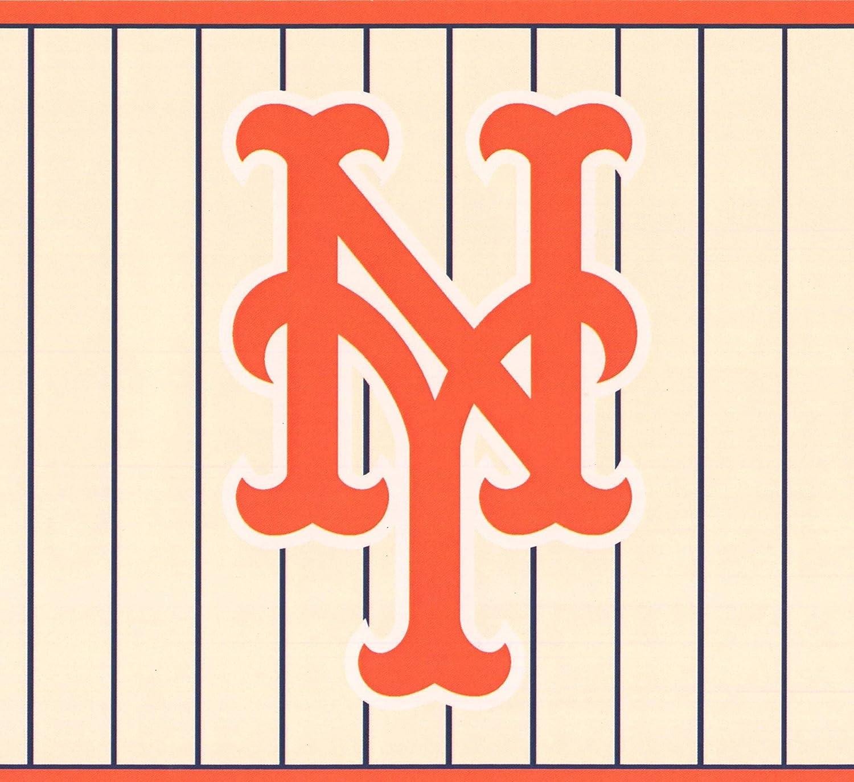 New York Mets Mlb Baseball Team Fan Sports Wallpaper Border Modern