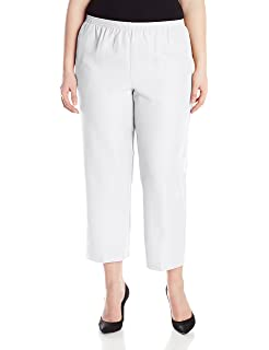 cbc1456f3bc Alfred Dunner Women s Plus-Size Poly Proportioned Medium Pant at ...