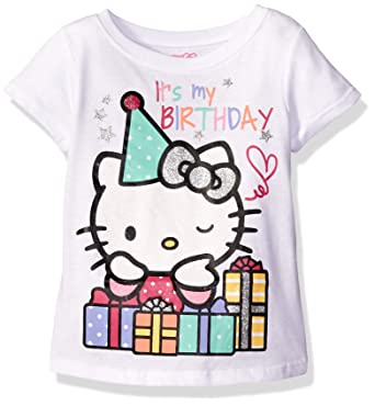83a4efbd5c9fa Amazon.com  Hello Kitty Girls  Happy Birthday T-Shirt  Clothing