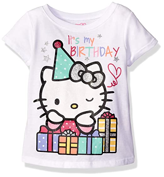 Hello Kitty Girls Little Happy Birthday T Shirt