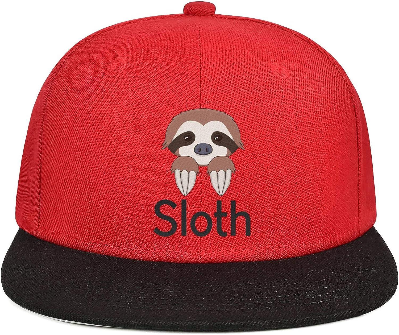 Mens Womens Mesh Trucker Caps Cute Sloth Head Logo Snapback Flat Hat