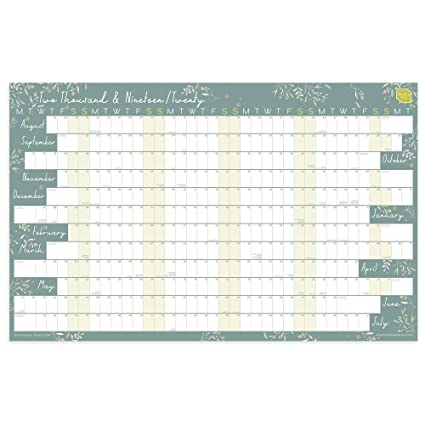 Calendrier Rentree Scolaire 2019.Boxclever Press Calendrier Mural 2019 2020 Calendrier Pour L Annee Scolaire 2019 2020 Format Paysage Lineaire En Anglais Planning Annuel D Aout