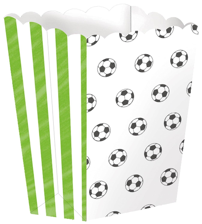 4 cuencos de palomitas * Balones de Fútbol * para WM 2018 de ...