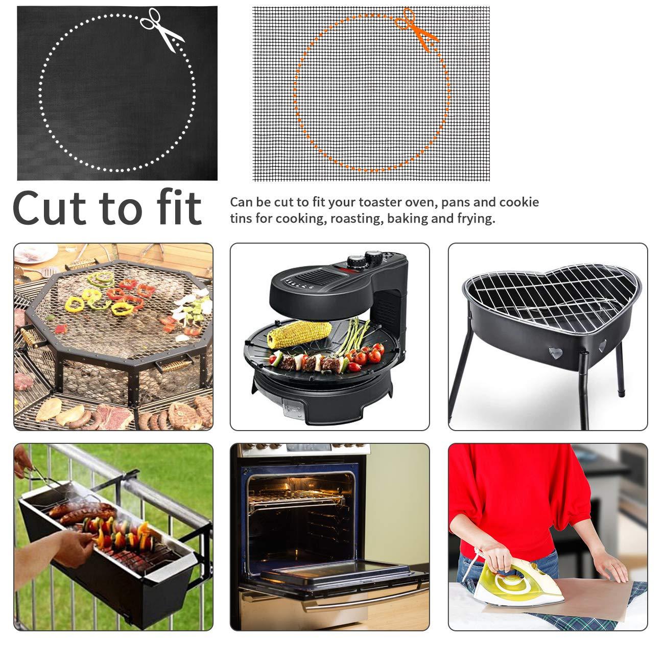 Hitzebest/ändig bis zu 260 ℃- 40x33 cm 3er Grillmatte und 2er Grillen Mesh Matte Fisch und Gem/üse EXTSUD BBQ Grillmatte,5er Antihaft Grill-und Backmatte wiederverwendbar Perfekt f/ür Fleisch
