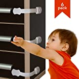 Premium Quality Child Safety Cabinet Locks For Child Proofing – No drilling Baby Safety – Baby Proofing Child Safety Latches - Strong Adhesive for Cupboards, Cabinets, Drawers