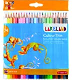 Lakeland Colourthin Colouring Pencils, Set of 24, School or Home Use, 700269