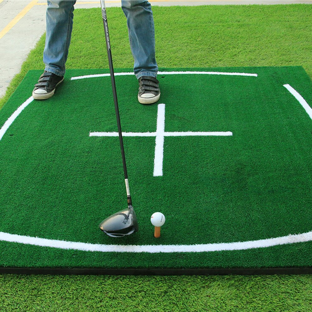 PGM Golf Course Hitting Mat Driving Range Practice Mat----4.92FT X 4.92FT, With Alignment Line, Teaching Equipments by PGM (Image #3)