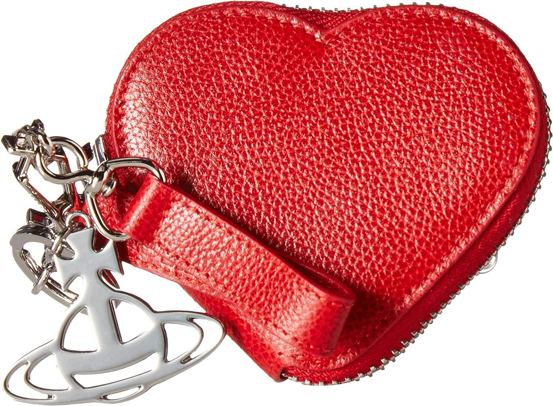 d7f07682fb Amazon.com: Vivienne Westwood Women's Johanna Heart Coin Case Black One  Size: Shoes