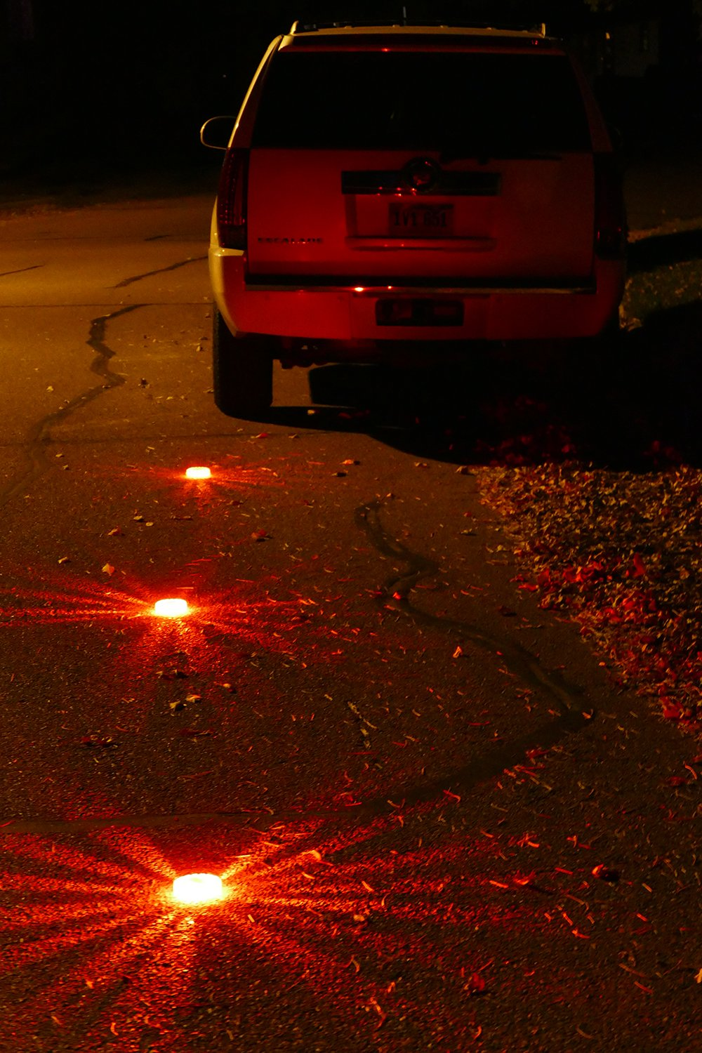 Abn Portable 16 LED Safety Flare Signal Light with 9 Warning Light Modes 3-Pack in Red for Roadside or Marine Emergency