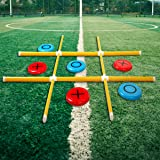 OTTARO Giant Tic Tac Toe Game, Premium Portable PVC Framed Yard Toss Game, Large Outdoor Indoor Tic Tac Toe Game for Adults a
