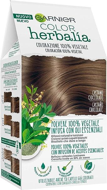 Garnier Herbalia Coloración 100% Vegetal - Castaño Chocolate, disponible en 6 tonos