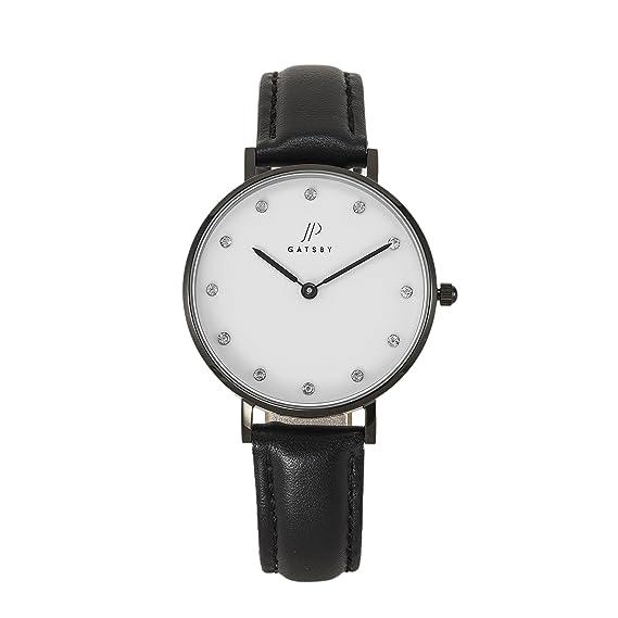 JP Gatsby JPG5009 - Reloj analógico de cuarzo para mujer, piel auténtica, resistente al