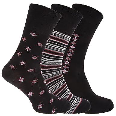 Calcetines Sin elástico con dibujos / estampados alto porcentaje algodón hombre/caballero - Pack de