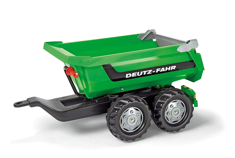 Deutz Trettraktor mit Anhänger - Rolly Toys 122240 Halfpipe Deutz-Fahr