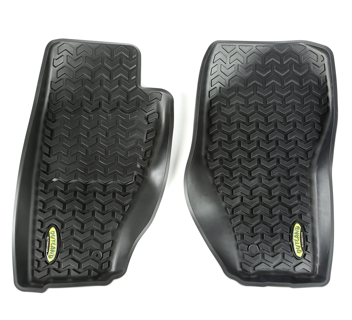 Outland 391292031 Black Front Row Floor Liner For Select Jeep Liberty Models