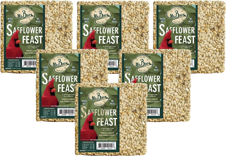 Mr. Bird Safflower Feast Small Wild Bird Seed Cake 8 oz. (6-Pack)