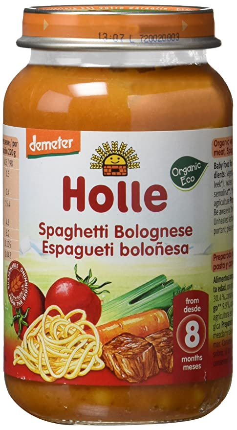 Holle Potito de Espagueti a la Bolognese (+8 meses) - Paquete de 6 ...