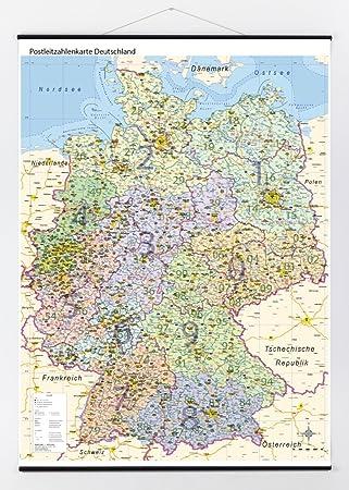 Postleitzahlen Karte Deutschland.Postleitzahlenkarte Deutschland Magnethaftend Mit