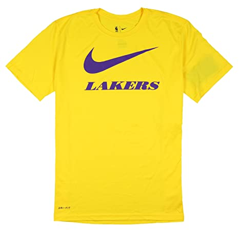 38776bab Amazon.com: Nike Men's Los Angeles Lakers Swoosh Logo T-Shirt Small ...