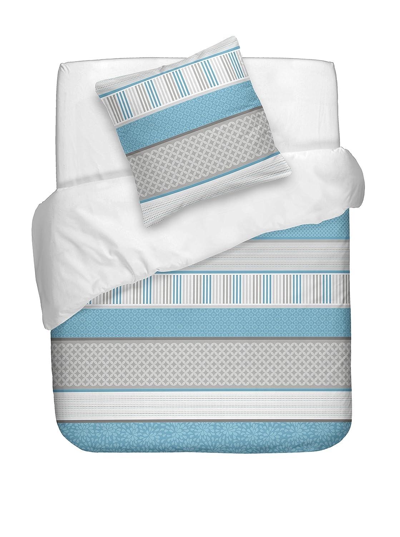 Naf naf linge de maison bedding aisha blue queen amazon co uk kitchen home