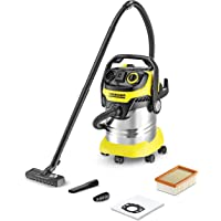 Karcher WD5 Premium 13482300, Wet & Dry Vacuum Cleaner with 25 Ltr. S.S. container (Yellow/ Black)