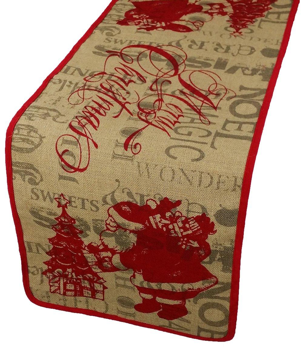 Amazon Xia Home Fashions Saint Nick Printed Burlap Christmas
