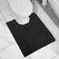 Yimobra Bath Contour Mat Chenille Toilet Mat U-Shaped Rugs for Bathroom Maximum Absorbent,Soft and Cozy,Dry Quickly,Non…