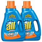 all Liquid Laundry Detergent with OXI Stain Removers and Whiteners, 46.5 Fluid Ounces, 2 Count, 52 Total Loads