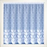 "Marseille White Net Curtains, Lace Curtain, 101cm 40"" Drop, Cut To Width"