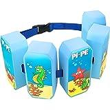 PI-PE Schwimmgürtel für Kinder - Schwimmhilfe ist der idealer Helfer um Schwimmen zu lernen - 5 Blöcke je nach Fortschritt entfernbar - verschiedene Farben für Jungen und Mädchen