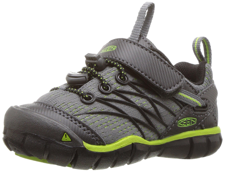 KEEN Chandler CNX Hiking Shoe, Magnet/Greenery, 5 M US