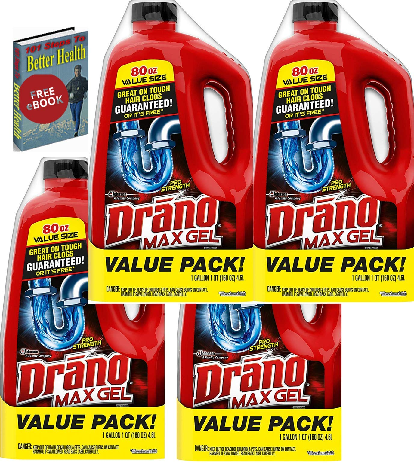 Drano Max Clog Remover 4=Pack, 320 Ounce (320 OZ) includes the GT eBook