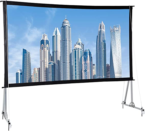 AmazonBasics Outdoor Projector Screen with Stand - 16:9