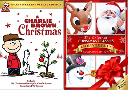 original christmas classics rudolph frosty the snowman dvd charlie brown christmas peanuts special holiday