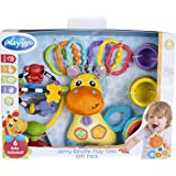 Playgro Playgro Jerry Giraffe Play Time Gift Pack 0187223139 for Baby Infant Toddler Children, Great Start for a World of Lea