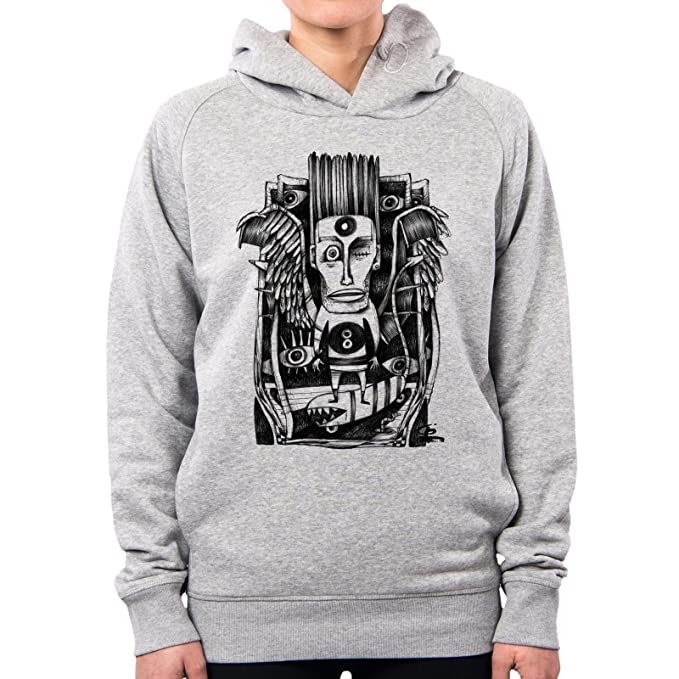PacDesign Sudadera con Capucha Mujer Drawing Animal Skater Monster Horror Indie Irene Bedino Ib0093a: Amazon.es: Ropa y accesorios