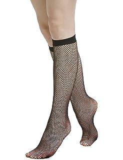 a9e9b77a032b9c Fishnet Knee High Socks for Women/Girls - Stay Up Comfort Top Pop Mesh Socks  Premium Quality…