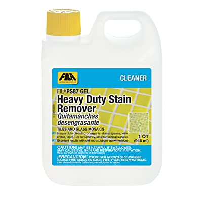 FILA Heavy Duty Stain Remover PS87 Gel 1 QT, Epoxy Grout Haze Remover, Stain Remover for Wine, Grease, Coffee and other food stains, ideal for ...