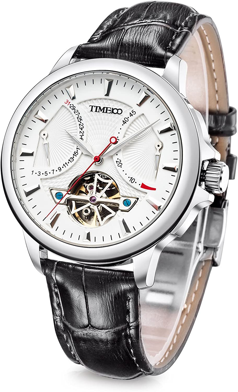 Time100 2018 Reloj Hombre Pulsera Reloj mecánico automático Resistente al Agua 5 Bar