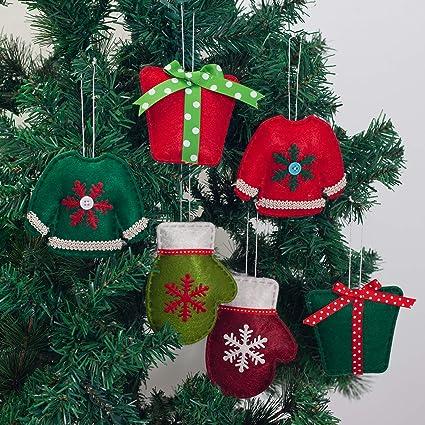 GMOEGEFT Handmade Felt Hanging Ornaments Christmas Tree Decorations Santa  Claus Pendants Home Decor (Set of - Amazon.com: GMOEGEFT Handmade Felt Hanging Ornaments Christmas Tree