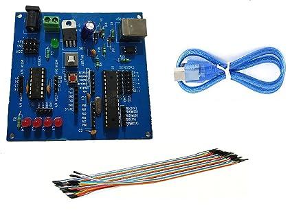 Embeddinator's AVR ATMega8 Bootloader Mini Development Board with USB Cable  & 25-Pin Wires