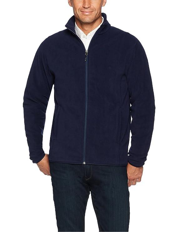 Amazon Essentials Men's Full-Zip Polar Fleece Jacket, Navy, X-Small best men's lightweight jackets