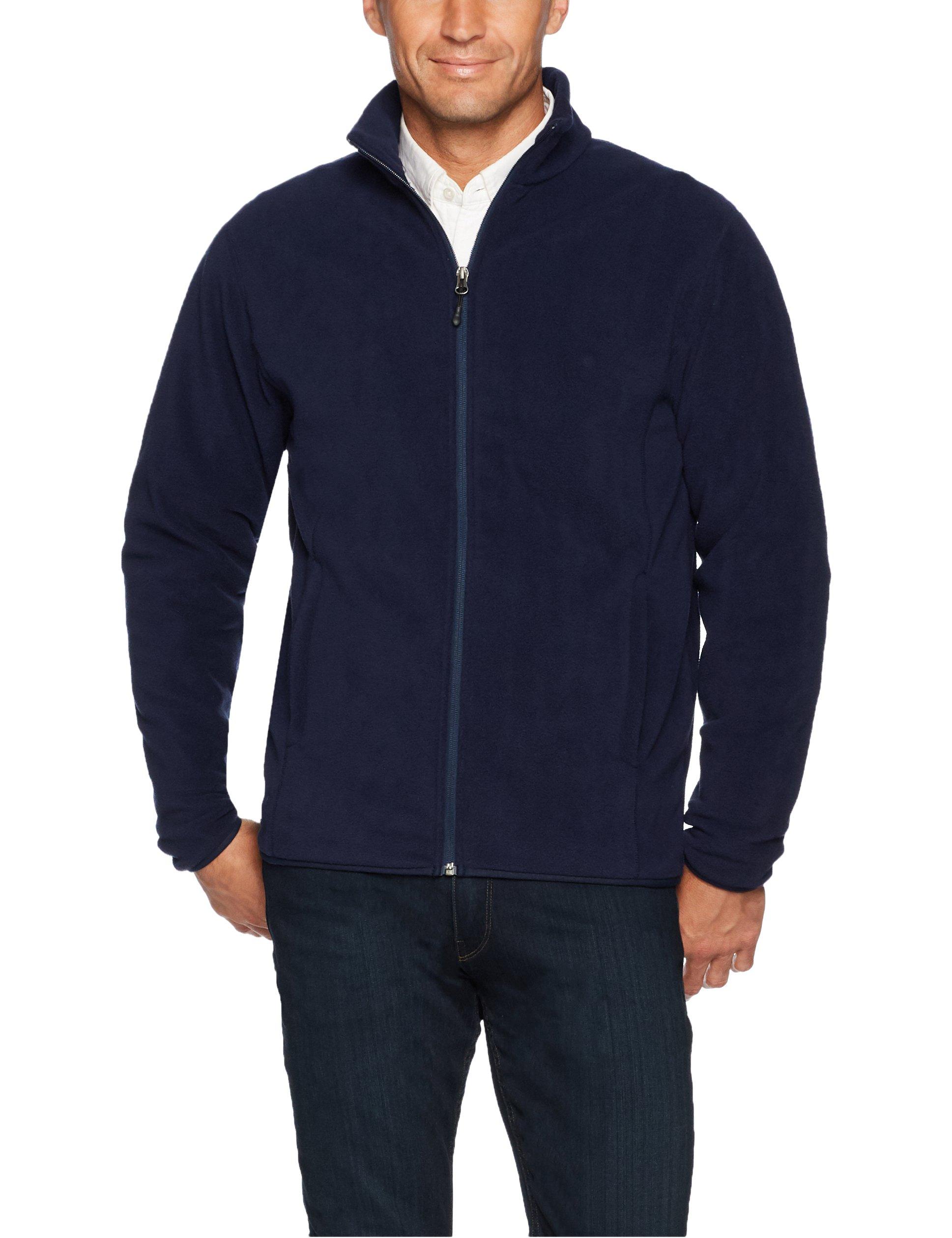 Amazon Essentials Men's Full-Zip Polar Fleece Jacket, Navy, Large