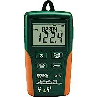 Extech DL160 Enregistreur de valeurs efficaces de tensions/courants ca à double entrée Vert