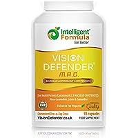 Supplément yeux lutéine, zéaxanthine et méso-zéaxanthine: VISION DEFENDER MAC - Protégez vos yeux et préservez votre vue, caroténoïdes antioxydants végétaliens/végétariens pour les yeux (90 gélules)