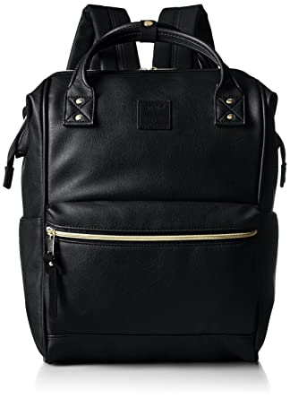 Amazon.com | Anello Synthetic Leather Backpack Large AT-B1211 ...