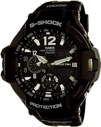 Casio Montre Homme Analogique/Digitale Quartz avec Bracelet en Résine – GA-1100-